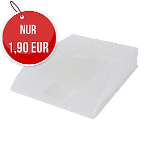 Herlitz Briefkorb A4, weiß transparent