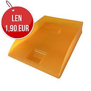 Odkladač na dokumenty Herlitz A4, oranžový priehľadný