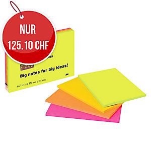 Haftnotizen Post-it Meeting Notes Super Sticky 6445-4SS, 152x101 mm, Pk.à 4 Stk.