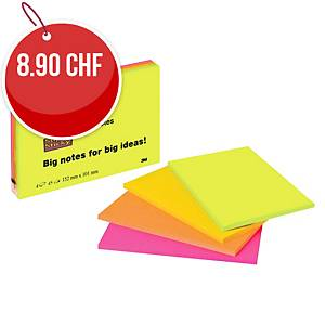 Notes repositionnables Post-it Super Sticky, 152x101 mm, paq. de 4 unités