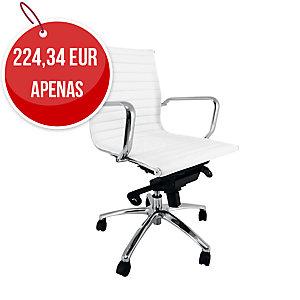Cadeira bajo com mecanismo basculante tecido nappel branco