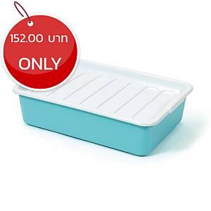 1256 Plastic Storage Box 12 Litres Assorted Opaque Colours
