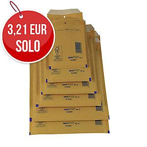 Pack de 10 bolsas con burbuja AROFOL 180x265mm color kraft nº 14