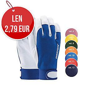 Kožené rukavice na všeobecnú manipuláciu so zapínaním, veľkosť 9