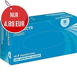 SEMPER Hygienic Einweg-Latexhandschuhe, puderfrei, weiß, Größe 9, 100 Stück