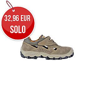 Zapatos de seguridad COFRA New Bengala S1P serraje color beige talla 44