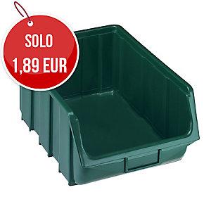 Vaschetta apertura bocca di lupo Ecobox Terry verde 11,1x16,7x7,6 cm