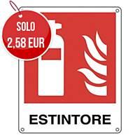 Cartello segnaletico antincendio con scritta   ESTINTORE
