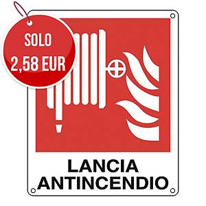 Cartello segnaletico antincendio   LANCIA ANTINCENDIO