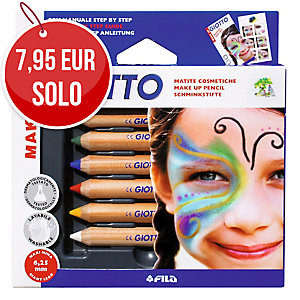 Pack de 6 lápices de maquillaje GIOTTO colores surtidos