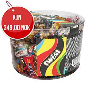 Sjokolade Twist Mini Mix, 1,5 kg