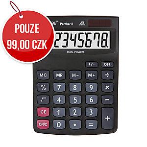 Stolní kalkulačka Rebell Panther 8-místná, 143 x 102 x 29 mm