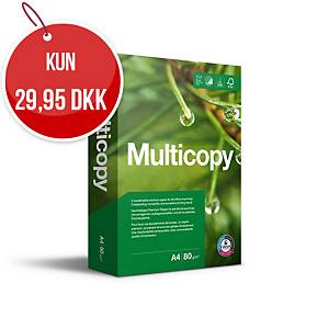 Multifunktionspapir MultiCopy Original, A4, 80 g, kasse a 5 x 500 ark