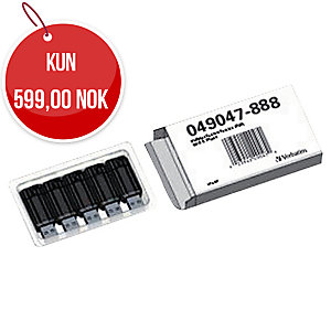 USB Verbatim Pinstripe 2.0 32 GB sort pakke à 5 stk