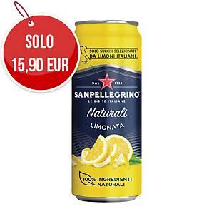 Bibita Limonata Sanpellegrino in lattina 33 cl - conf. 24