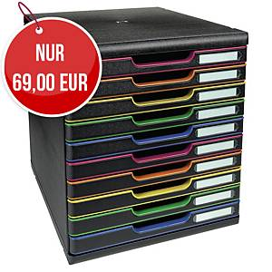 Exacompta Modulo A4+ harlequin Schubladenbox mit 10 Schubladen