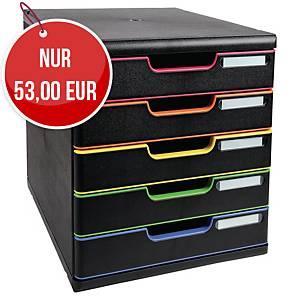 Exacompta Modulo A4+ harlequin Schubladenbox mit 5 Schubladen