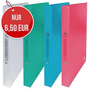 Elba 2nd Life Ringbuch 2-Ringe Ø16mm, rückenbreite 20 mm PP, Farbenmix, 4 Stück