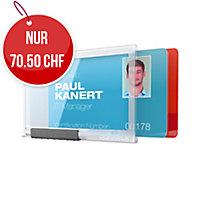 Kartenhalter Durable Pushbox Duo 8921-19, für 2 Karten, Packung à 10 Stück