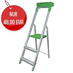 Safetool 3730.03 Leiter 3 Stufen, Aluminium