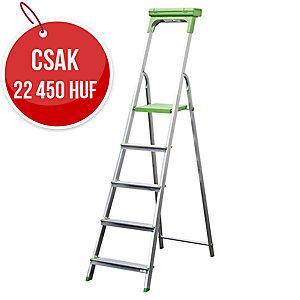 Safetool 3730.05 létra, 5 lépcsőfokos, alumínium