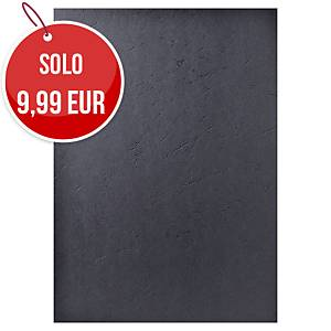 Copertine in cartoncino Exacompta effetto cuoio 270 g/mq A4 nero - conf.100