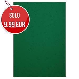 Copertine in cartoncino Exacompta effetto cuoio 270 g/mq A4 verde - conf.100