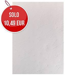 Copertine in cartoncino Exacompta effetto cuoio 270 g/mq A4 bianco - conf.100