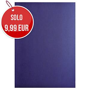 Copertine in cartoncino Exacompta effetto tela 270 g/mq A4 blu - conf. 100