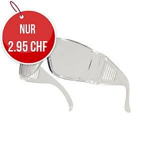 Schutzbrille Deltaplus Piton Clear, transparent, Scheibe farblos