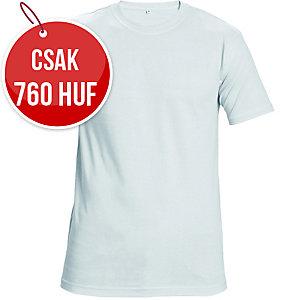 Rövid ujjú póló, pamut, méret: XL, fehér