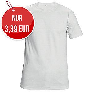 Unisex T-Shirt kurzarm, Baumwolle, Größe L, weiß