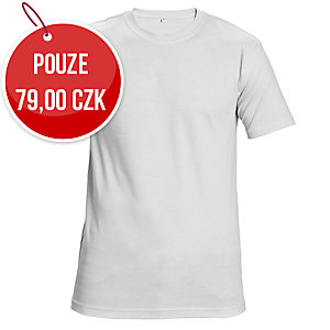 Tričko s krátkym rukávem ČERVA GARAI, velikost L, bílé