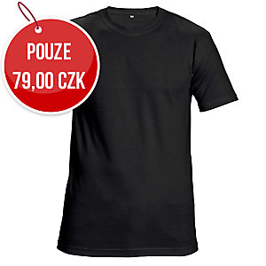 Tričko s krátkym rukávem ČERVA GARAI, velikost L, černé