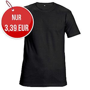 Unisex T-Shirt kurzarm, Baumwolle, Größe XL, schwarz