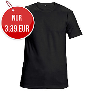Unisex T-Shirt kurzarm, Baumwolle, Größe XXL, schwarz