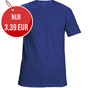 Unisex T-Shirt kurzarm, Baumwolle, Größe M, königsblau