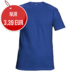 Unisex T-Shirt kurzarm, Baumwolle, Größe XL, königsblau