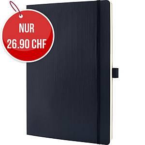 Notizbuch Sigel Conceptum A4, Softcover, 5 mm kariert, 194 Blatt, schwarz