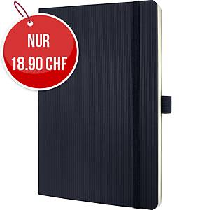 Notizbuch Sigel Conceptum CO320 A5, Softcover, 5 mm kariert, 194 Blatt, schwarz