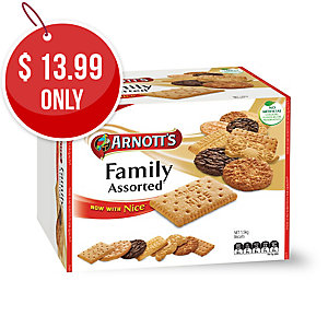 ARNOTT S BISCUITS ASSORTED FAMILY BULK PACK 1.5KG - BOX