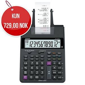 Utskriftskalkulator Casio HR-150RCE, sort, 12 sifre