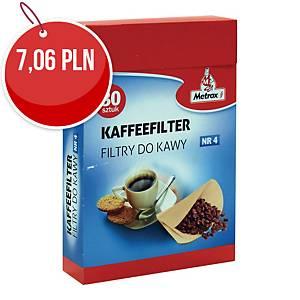 Filtry do kawy METROX 1101845 NO1X4, 80 sztuk