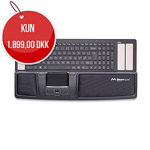 Ergonomisk mus Mousetrapper Advance 2.0, sort/hvid