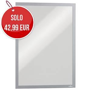 Cornice magnetica con pannello Durable Duraframe® A3 argento - conf. 5