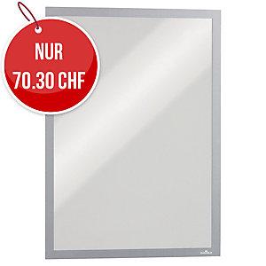 Wandzeigtasche Durable Duraframe 4868-23, A3, magnetisch, silber, Pk. à 5 Stk.
