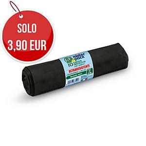 Sacchi spazzatura Mistersack 210 L nero - rotolo 10