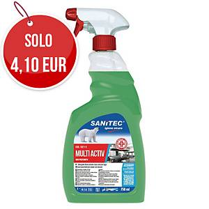 Sgrassante disinfettante Sanitec Multi Activ non profumato 750 ml
