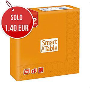 TOVAGLIOLI THE SMART TABLE FATO A 2 VELI FTO 33X33 CM CONF. 50 COLORE ARANCIO
