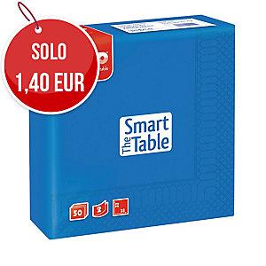 TOVAGLIOLI THE SMART TABLE FATO A 2 VELI FTO 33X33 CM CONF. 50 COLORE BLU